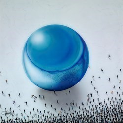 Gravitational Pull by Craig Alan -  sized 40x40 inches. Available from Whitewall Galleries